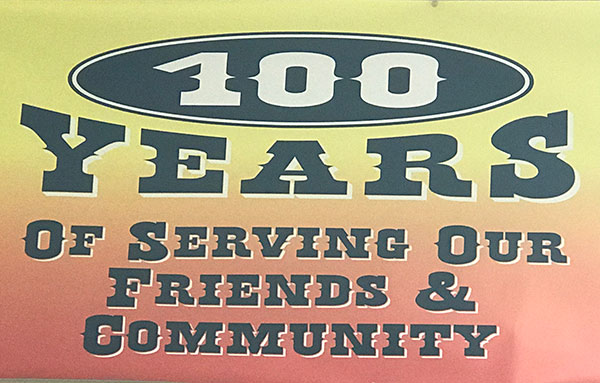 100 years of Serving Our Friends & Community banner graphic